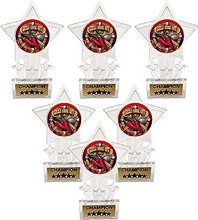 Express Medals 6.5 英寸透明亚克力星辣椒烹饪比赛品味冠军*杯(6 件装)
