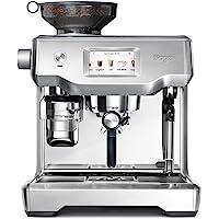 Sage 意式蒸馏咖啡机 LCD触控屏幕/2.5L 水箱/9bar 压力萃取/双倍制作/内置磨豆机/自带牛奶打发器/个性…