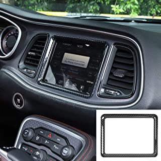JeCar 中控台导航 GPS 仪表板装饰装饰 适用于 2015-2020 道奇挑战者 碳纤维