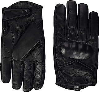 Bikers Gear Australia 新款短款冬季哈雷风格巡洋舰软皮手套,带有保暖 Hipora 防水衬里 2XL 黑色 SHWIN-2XL