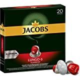 Jacobs 咖啡胶囊 经典稀饮意式特浓(Lungo Classico),浓度6/12,200粒兼容Nespresso…