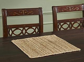 Better Trends 纯色黄麻系列优雅、柔软、耐热,适用于餐桌,* 黄麻,色彩鲜艳,15 英寸(约 38.1 厘米)方形四件套,自然色