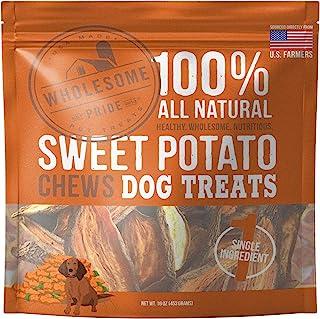 Wholesome Pride 红薯咀嚼狗狗零食,16 盎司(453克) - 天然健康 - 素食、无麸质和无谷物狗零食 - 美国制造