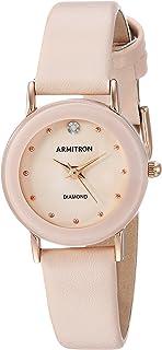 Armitron 女式 75/2447 镶钻皮革表带手表