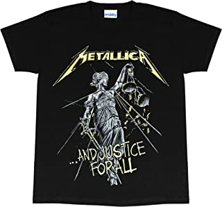 Metallica and Justice for All Women's Boyfriend Fit T 恤,官方商品 | 礼物创意 适合她、乐队、金属音乐