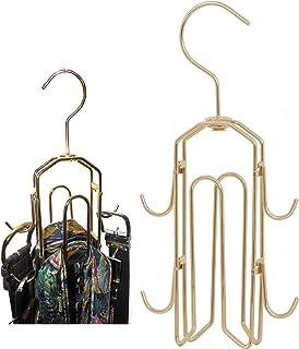 BT 衣架、领带架、衣柜整理架、领带挂钩、挂架,可容纳 50 个领带和腰带以及节省衣柜空间、旋转钩,帮助组织无褶皱的领带