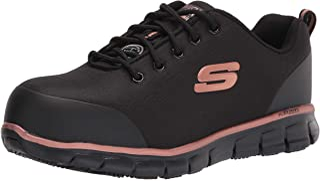 Skechers 斯凯奇女式系带运动*鞋头工业鞋