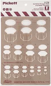 Pickett 等距六角形螺母和头部模板 (1173I)
