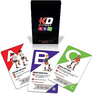 Kick Deck ABC 青年足球训练项目   足球基础知识,26 个在家自训练卡,提高基本足球技能,年龄 4 岁以上
