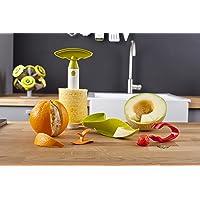 VacuVin梵酷 水果工具套装 菠萝刀 草莓剪(红) 剥橙器(橙) 蜜瓜刀