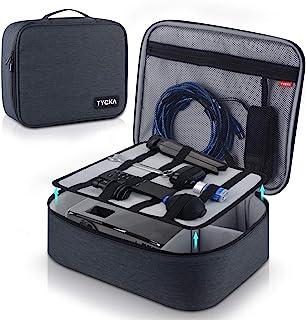 视频投影仪盒 TYCKA 防护投影机收纳袋 防震投影仪携带盒 带 DIY 分隔 2 件装配件收纳袋 适用于投影仪设备 (14.2 x 11.1 x 4.3 英寸)