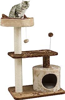 Iris Plaza 爱丽思 猫塔 固定式 人气 大型猫 吊床 附磨爪垫 米色 S/M/L尺寸