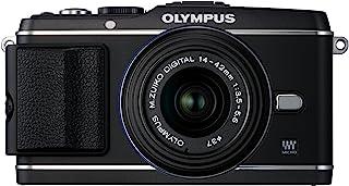 奥林巴斯 PEN E-P3 12.3 MP Live MOS Micro Four Thirds 可互换镜头数码相机带 MSC M. *ko 数码 ED 14-42mm II R f3.5/5.6 变焦镜头V204031BU000 黑色