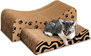YAY 宠物猫抓板(2 合 1) – 纸板刮板 – 纸板猫抓板 – 猫抓板 – 猫爬架适用于室内猫 – 猫抓板 – 抓抓抓板 – 躺椅抓板(中号)