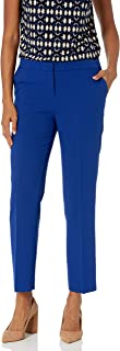 Kasper 女式弹力绉纱弹性长裤