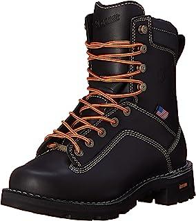 Danner Quarry USA 男士黑色工装靴 - 8 英寸