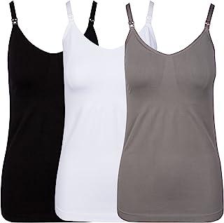 JLIKA 女士哺乳和孕妇 Cami - 孕妇背心 3 件装