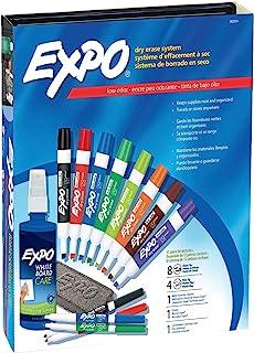 EXPO 80054 低气味干擦马克笔,凿尖,各种颜色,15 件套