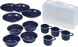 [Captain Stag 鹿牌] 腰部搪瓷餐具套装 [碟子、碗子、马克杯各4个装/带盒子] M-1078