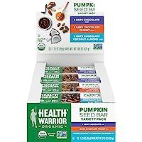 Health Warrior *南瓜籽蛋白棒,多种包装,7 克植物蛋白,不含麸质,*认证(12 包)