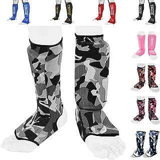 BeSmart 儿童、成人、青少年、男女泰拳综合格斗踢腿护腿、脚背防护训练、拳击防护装备、胫骨护腿垫