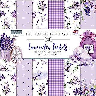 Paper Boutique 薰衣草田园纸垫,紫色,20.32 x 20.32 厘米