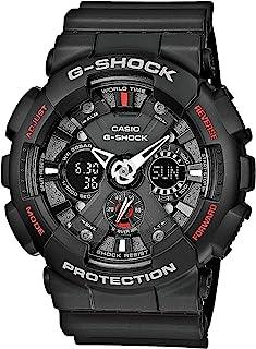 男式黑色 G-Shock 模拟数字防磁(型号为 GA-120-1ADR)