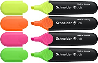 Schneider Job 凿尖荧光笔 4份 Yellow/Orange/Pink/Green