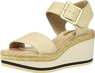 André Assous Carmela 女士帆布坡跟凉鞋
