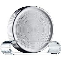 WMF 福腾宝 Loft Bar 玻璃碟6件套 玻璃垫 9.5cm,Cromargan亚光不锈钢