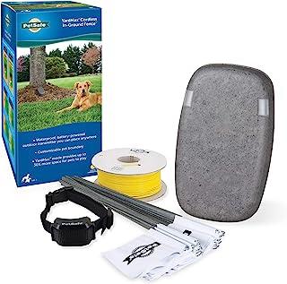 PetSafe 电池供电地内狗围栏 - 防水可充电项圈 - 色调和静电校正 - YardMax 无线地下围栏 - 适合 5 磅及以上的宠物