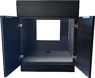 30 英寸(约 76.2 厘米)Portuna 黑色浴室梳妆台平门风格 RTA 橱柜底座 - NITURRA Moderno 系列