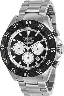 """Invicta 男式""""Speedway""""石英不锈钢休闲手表,颜色:银色(型号:22396)"""