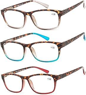 老花镜 3 双超值时尚老花时尚男士和女士阅读眼镜