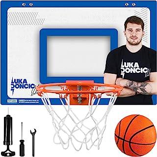 Luka Doncic 迷你篮球框 – 室内篮球篮适用于儿童房、办公室 – *小壁装篮球球门套装带泡沫垫门挂支架 – 包括工具