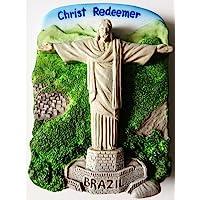 Christ Redeemer 里约热内卢雕像巴西树脂 3D 冰箱冰箱泰国磁贴手工制作。 由泰国MCnets 制造