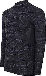 Alki'i 男式半高领保暖长袖紧身上衣,带网面