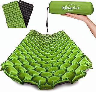POWERLIX 睡垫 – 超轻充气睡垫 – 非常适合露营、背包、徒步旅行 – 气垫垫、充气袋、手提袋、维修套件 – 小巧轻便的充气床垫