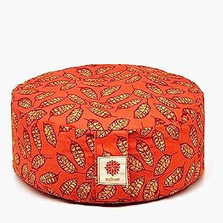 大号冥想靠垫 圆形棉质瑜伽枕头 适合男士和女士的荞麦冥想枕头 适合坐在地板上