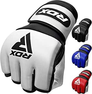 RDX MMA 手套,适用于武术格斗训练| D. 切割棕榈 Sino 皮质拳击手套 | 适合泰拳、跆拳道、笼斗、战斗运动和拳击袋