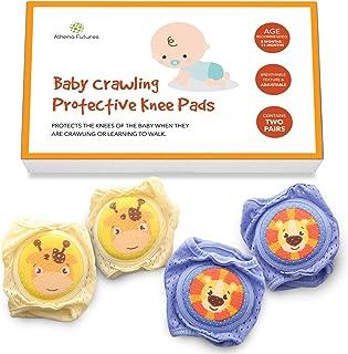 婴儿护膝 适合爬行使用 – 膝盖的可爱防滑保护 – 宝宝注册必备品 多种颜色 Size 3 - Large