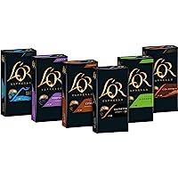 L'OR 咖啡膠囊,60粒Nespresso兼容膠囊,6盒/每盒10杯,6口味入門裝