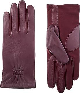 ISOTONER 女士弹力皮革触屏手套,带保暖羊毛衬里