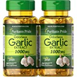 Puritan's Pride 普丽普莱 补充剂,无味大蒜 1000毫克,共500粒(2瓶250粒)