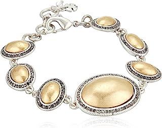 Lucky Brand 女士 Pave 宝石链式手链,双色,均码