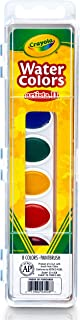 Crayola Artista 8 半湿椭圆平底锅水彩套装 带刷子