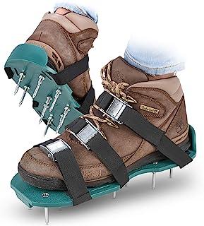 Abco Tech 草坪松土鞋钉鞋 – 适用于有效*草坪土壤 – 配有3条可调节带和金属扣 – 通用尺寸,适合所有大小 – 更环保,更*的码数 ABC2097
