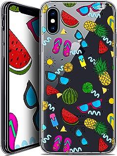 苹果 iPhone XS/X (5.8) 手机套保护壳 水晶凝胶 HD 柔软 - 防震 - 法国印花CRYSPRNTIPHONEXSUMMERS  Apple iPhone X (10), iPhone XS Summers
