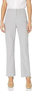 Kasper 女士小码细条纹泡泡纱长裤