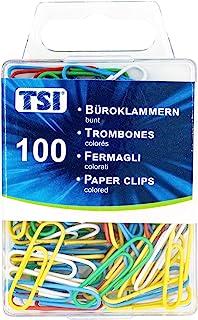 TSI 回形针,26 毫米,100 件装,彩色